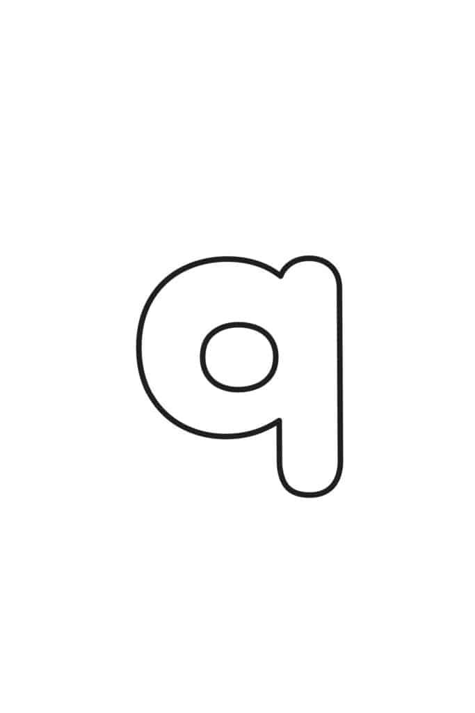 Lowercase Q Bubble Letter