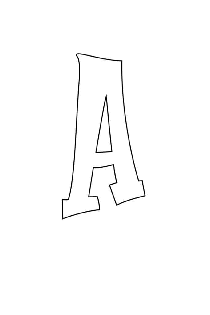 free printable graffiti bubble letter A