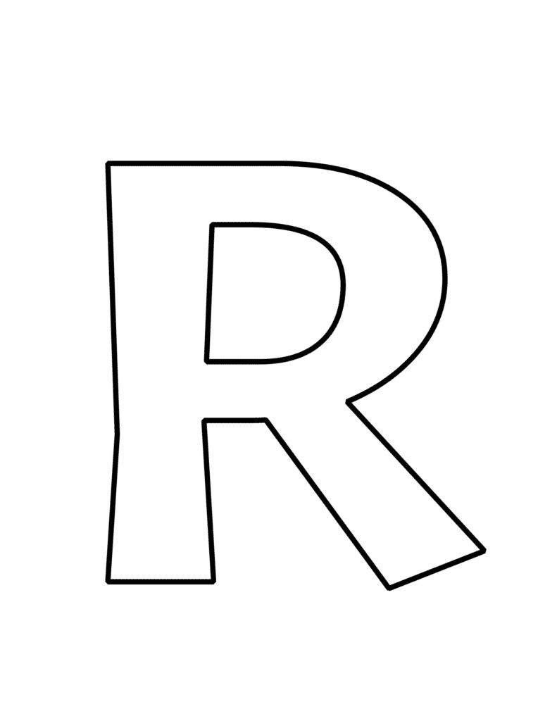 Printable Bubble Letter R