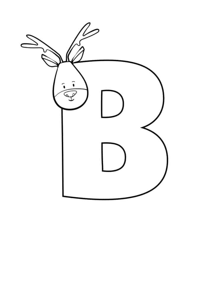 free printable cute bubble letter B