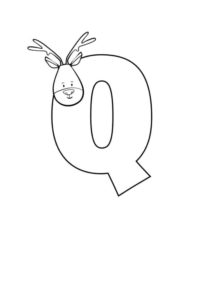Printable Cute Bubble Letter Q