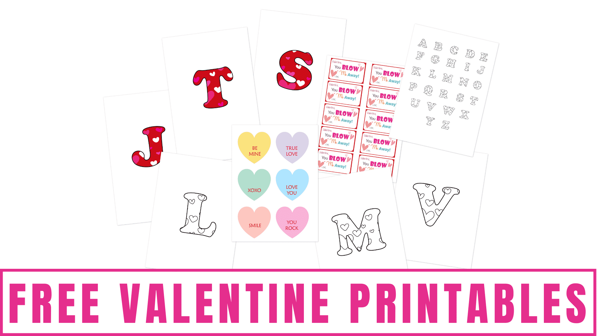 Here are several free Valentine printables that will help you get ready for the holiday and save money!