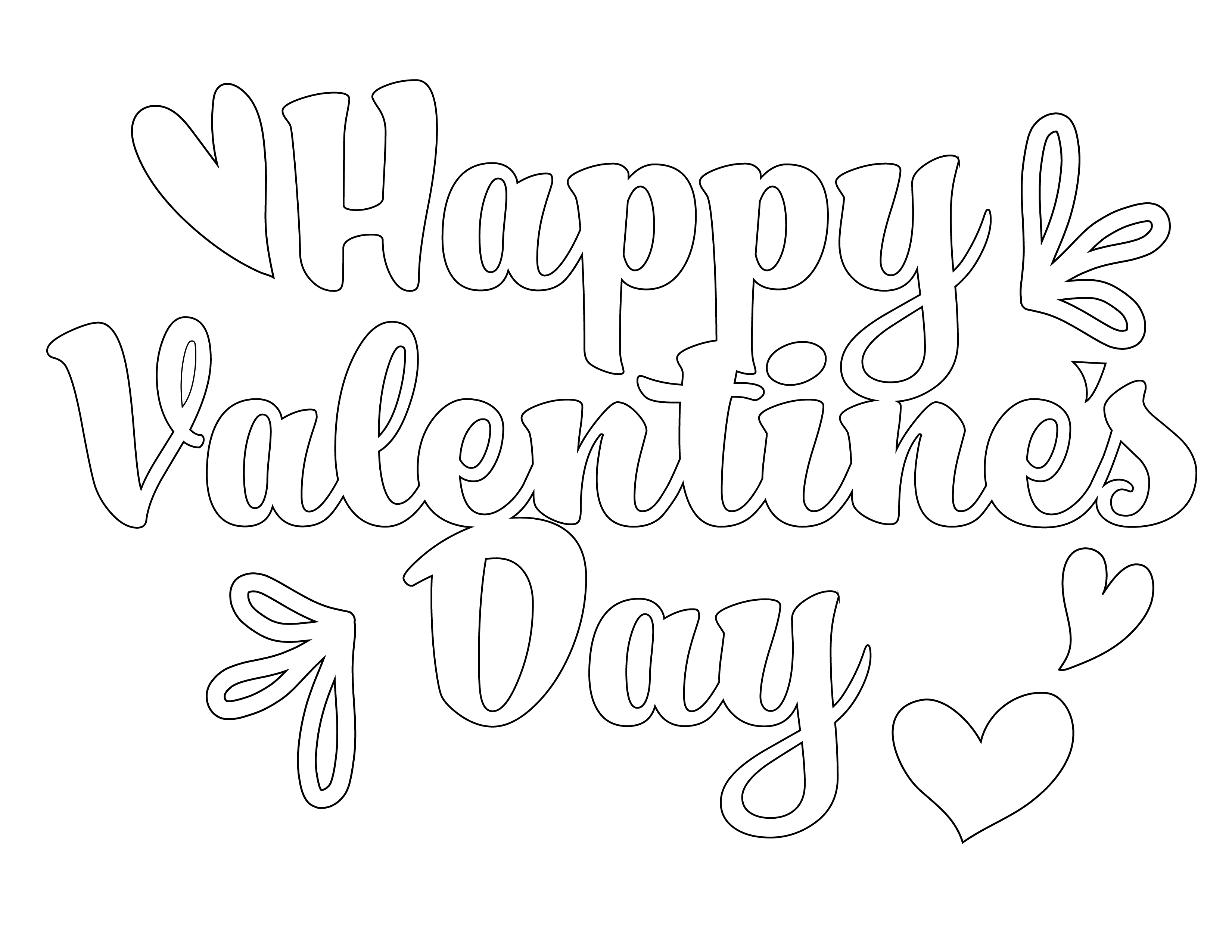 This free printable with Happy Valentine's Day in bubble letters is a sweet addition to any Valentine's gift!