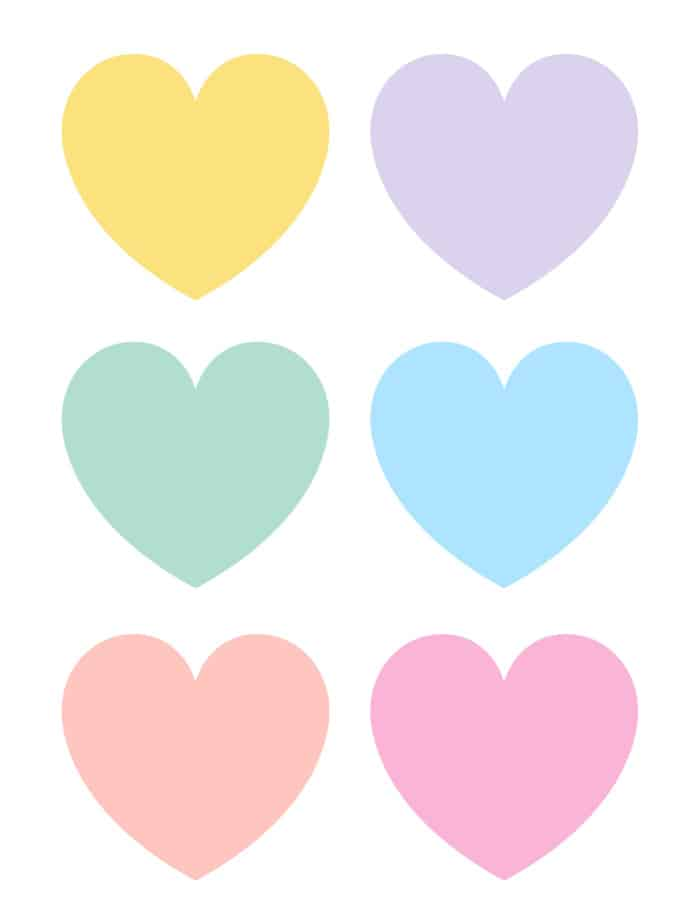 If you want to write your own custom love note opt for one of these free printable blank conversation hearts.