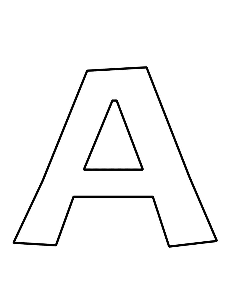 free printable bubble letter A