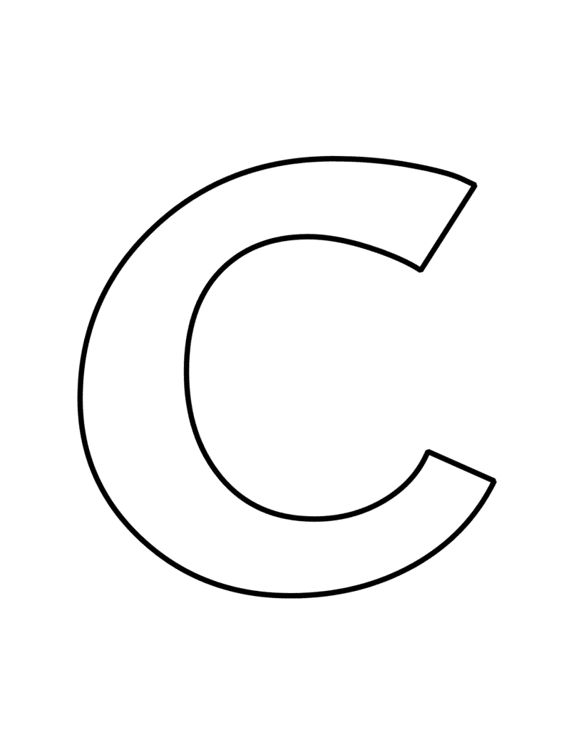 free printable bubble letter C