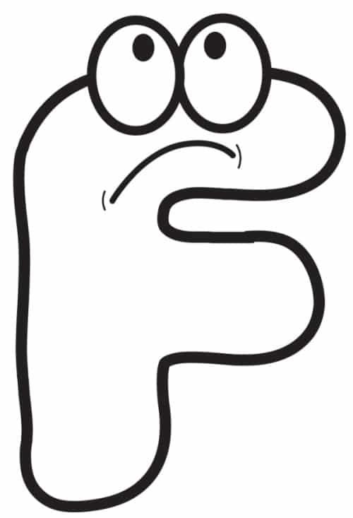 Free Printable Cartoon Letters Cartoon Letter F
