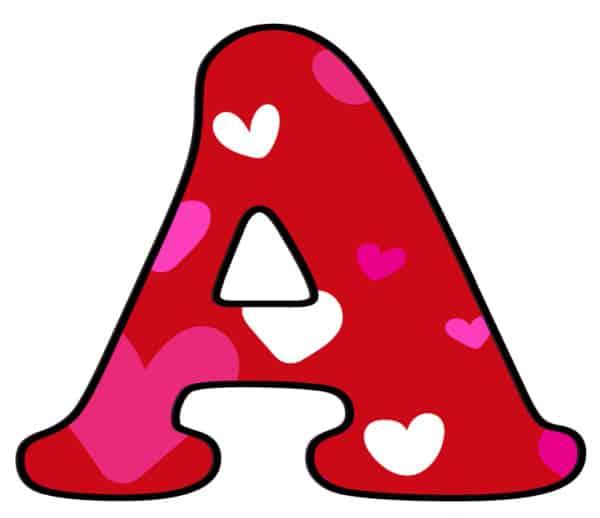Free Printable Colorful Bubble Letters Valentine Bubble Letter A