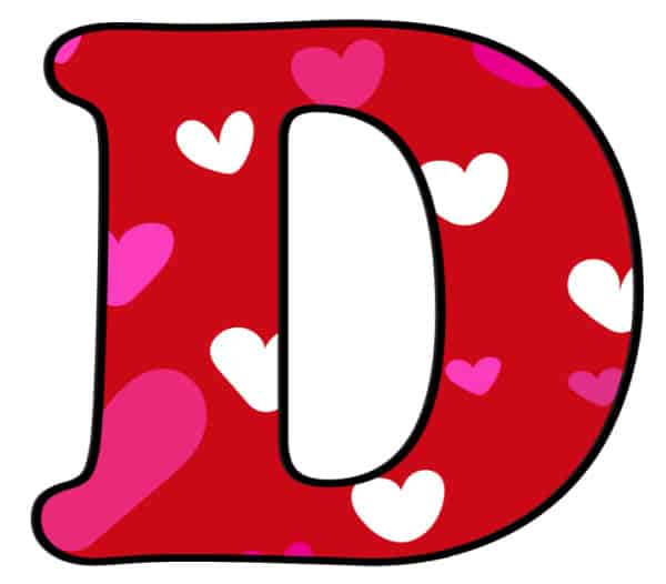 Free Printable Colorful Bubble Letters Valentine Bubble Letter D