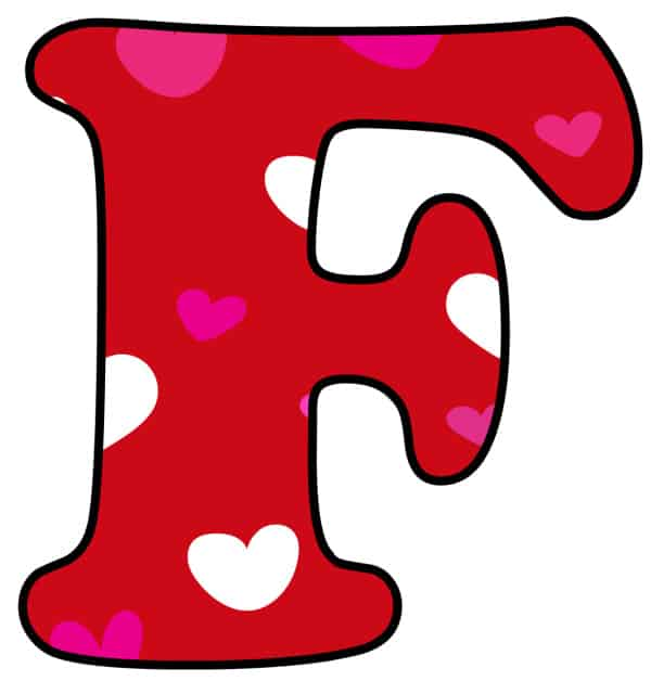 Free Printable Colorful Bubble Letters Valentine Bubble Letter F