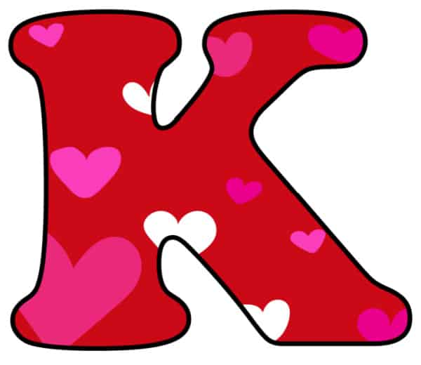 Free Printable Colorful Bubble Letters Valentine Bubble Letter K