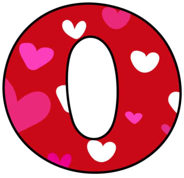 Free Printable Colorful Bubble Letters Valentine Bubble Letter O