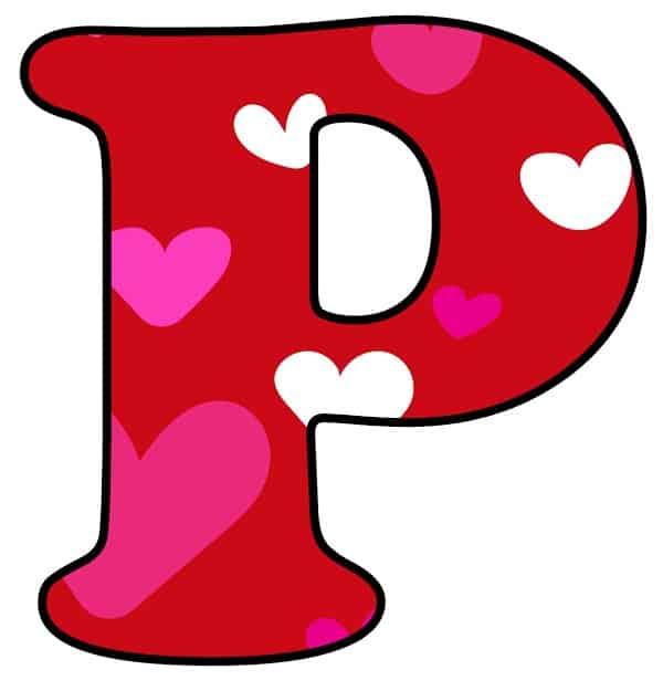 Free Printable Colorful Bubble Letters Valentine Bubble Letter P