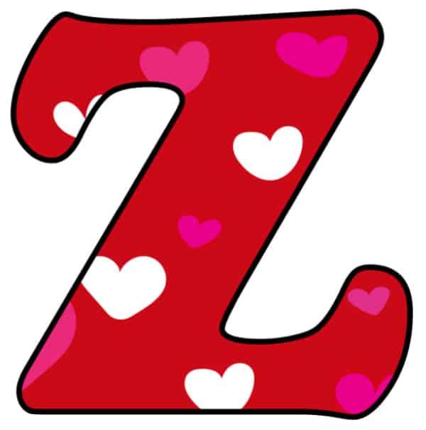 Free Printable Colorful Bubble Letters Valentine Bubble Letter Z