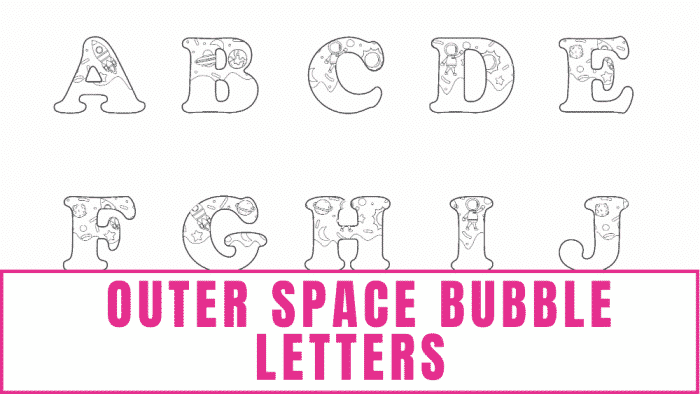 free printable letter templates of outer space bubble letters