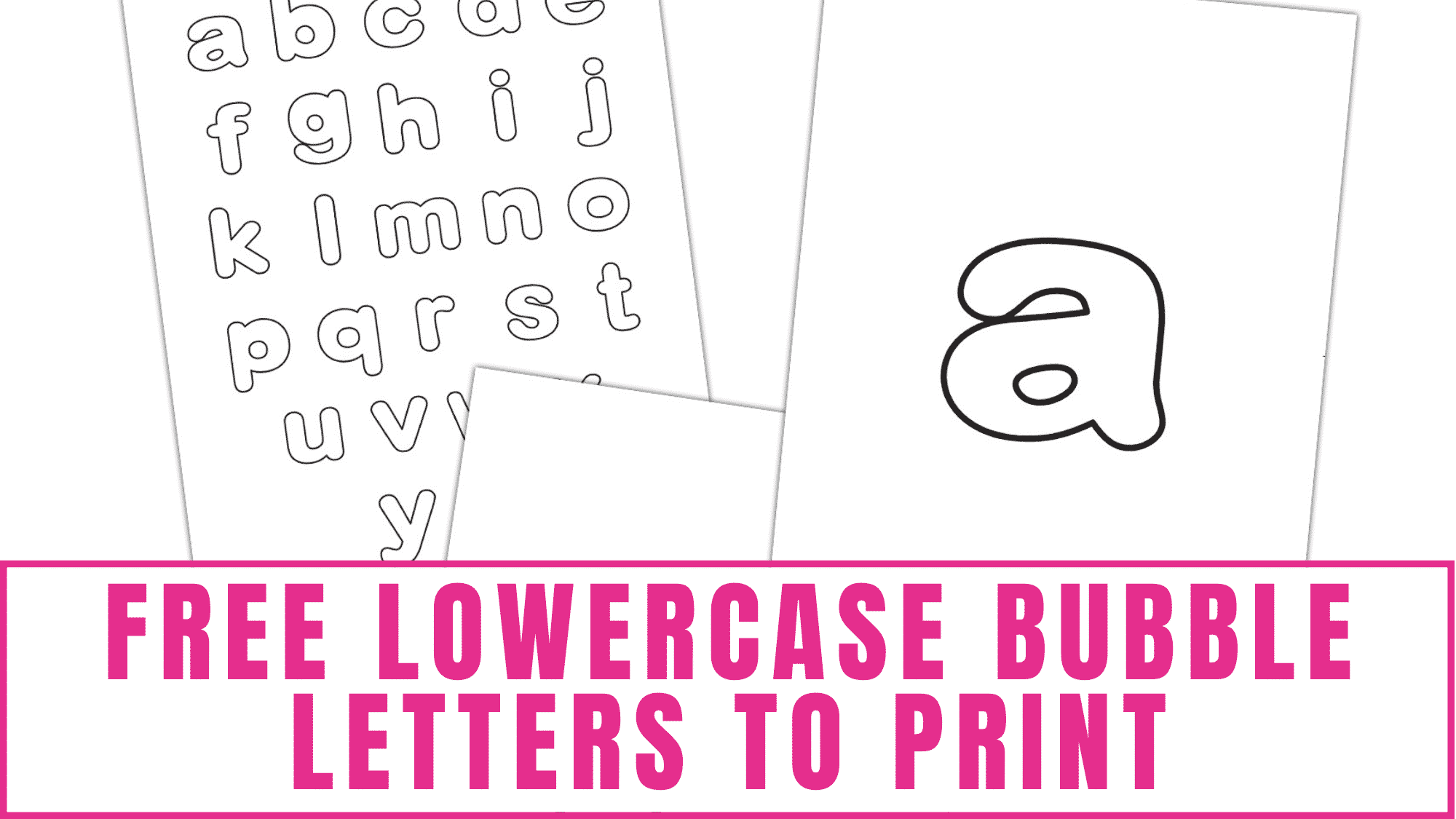 From educational activities to craft projects, the uses for these free lowercase bubble letters are practically endless!