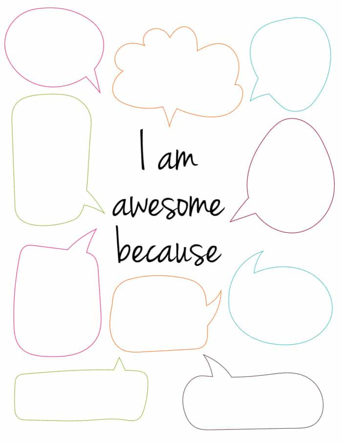Listing ways that you're awesome on this self esteem worksheet are an easy and free way to boost one's self-worth.