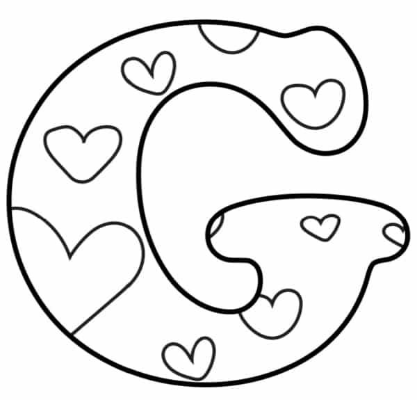 Free Printable Valentine Bubble Letters Bubble Letter G