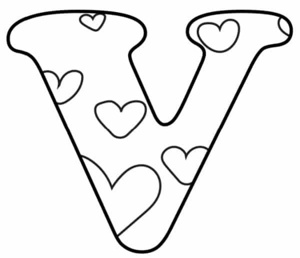Free Printable Valentine Bubble Letters Bubble Letter V