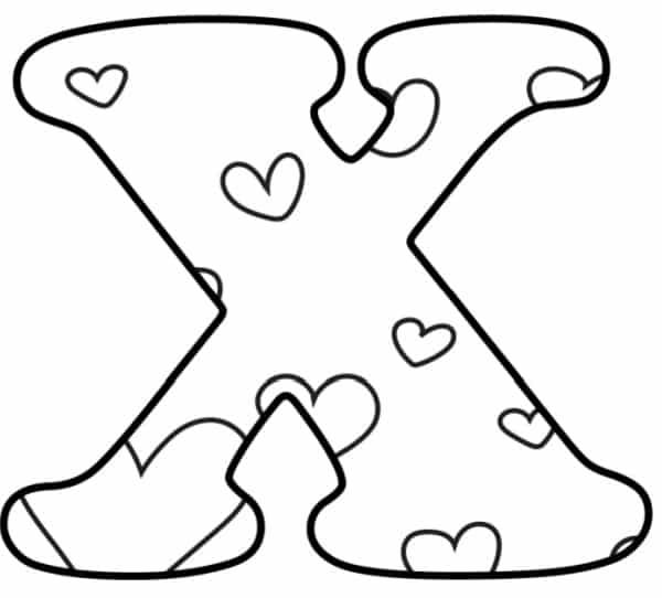 Free Printable Valentine Bubble Letters Bubble Letter X