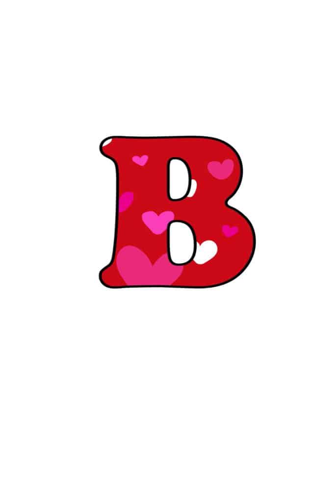 Free Printable Colorful Bubble Letters Valentine Bubble Letter B