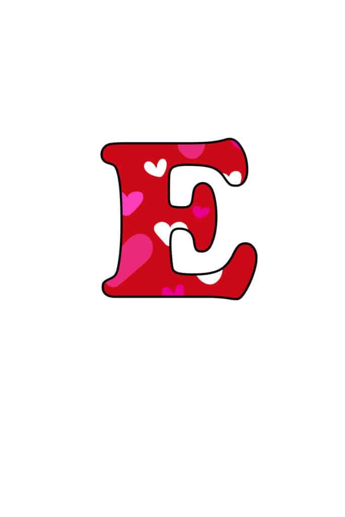 Free Printable Colorful Bubble Letters Valentine Bubble Letter E