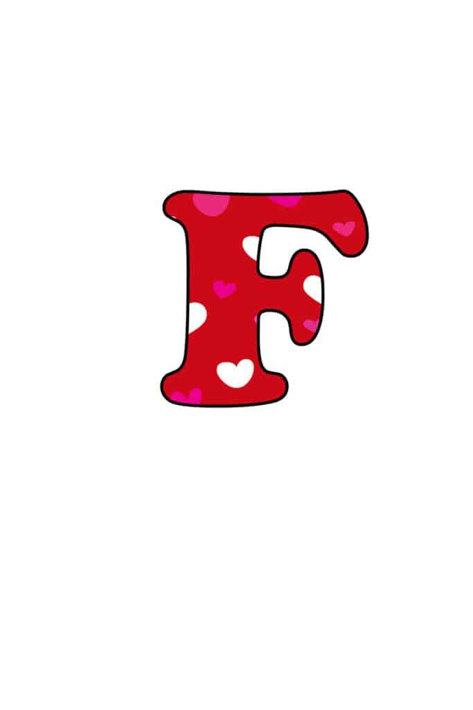 Free Printable Colorful Bubble Letters Valentine Bubble Letter F