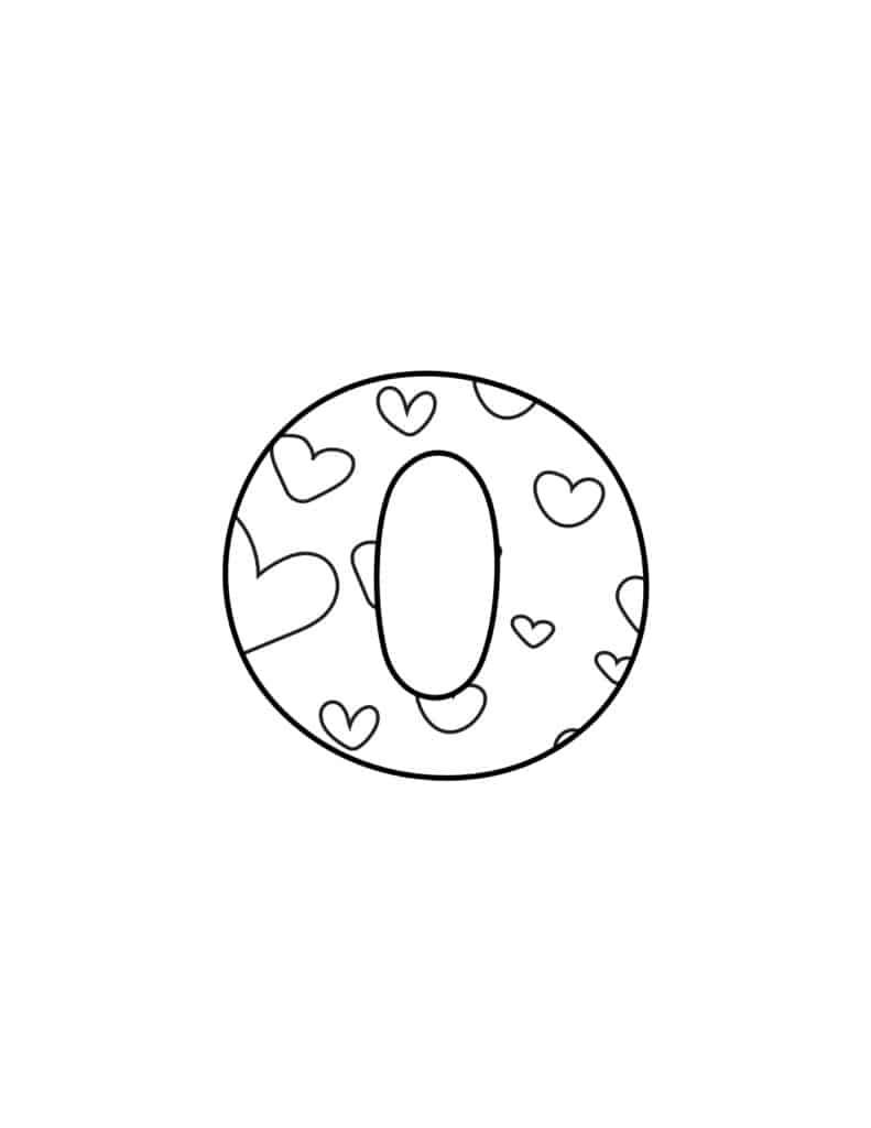 Free Printable Valentine Bubble Letters Bubble Letter O