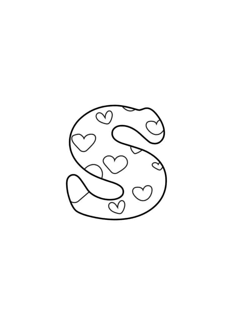 Free Printable Valentine Bubble Letters Bubble Letter S