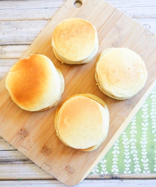 Before freezing pancakes, allow them to fully cool on a flat surface.