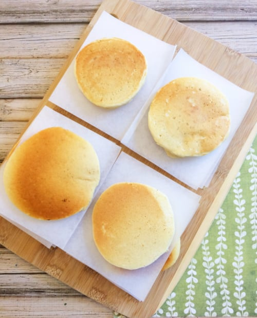 Just as important as how to freeze pancakes is how to keep them from sticking together—place parchment paper between each.