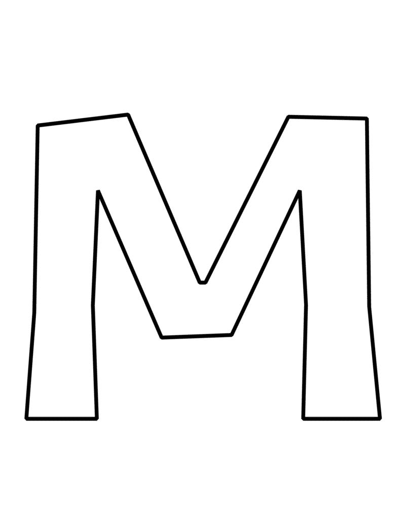 Bubble Letter  M