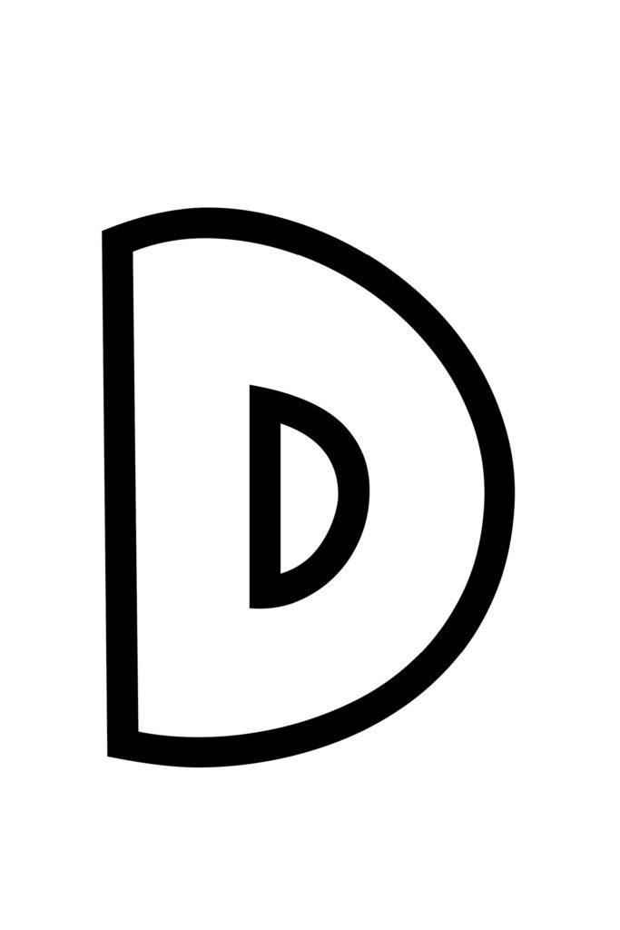 Free Printable Bubble Letter Stencils Bubble Letter D