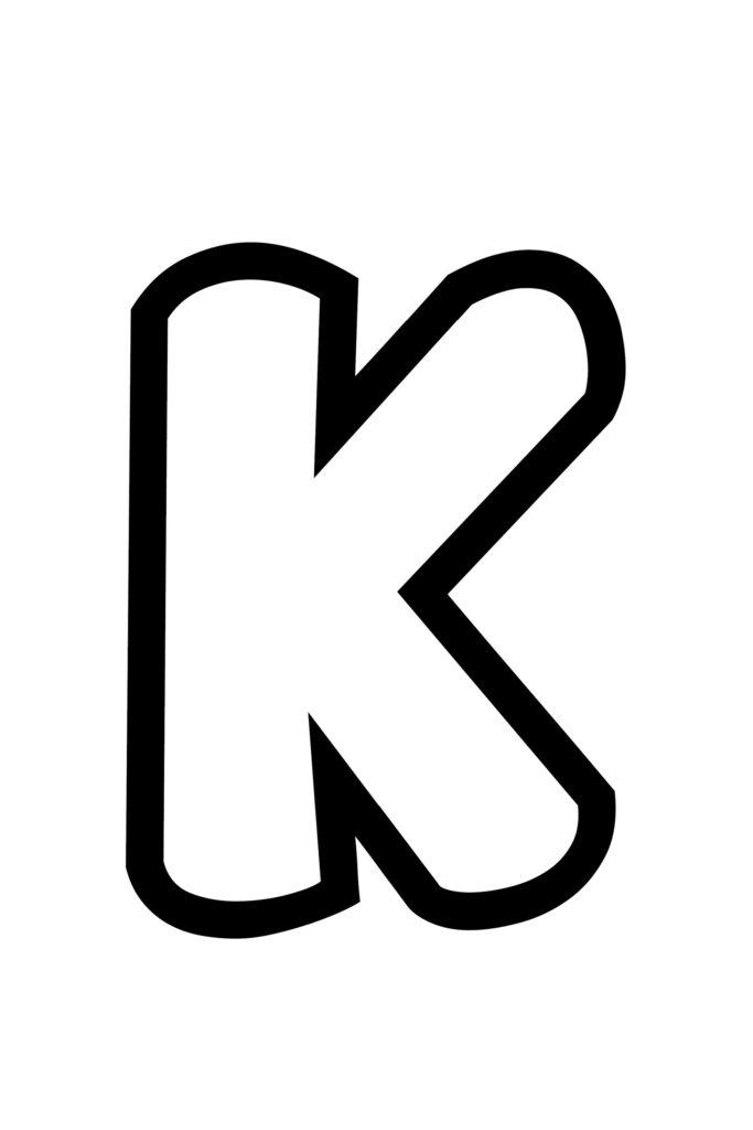 Free Printable Bubble Letter Stencils Bubble Letter K