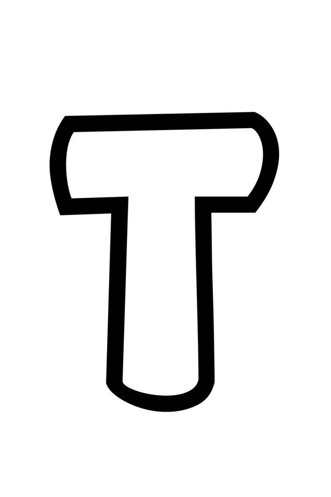 Free Printable Bubble Letter Stencils Bubble Letter T