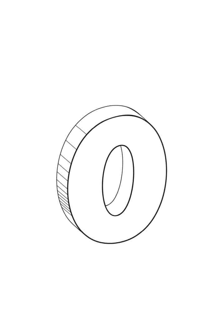 Free Printable Cool Bubble Letter O