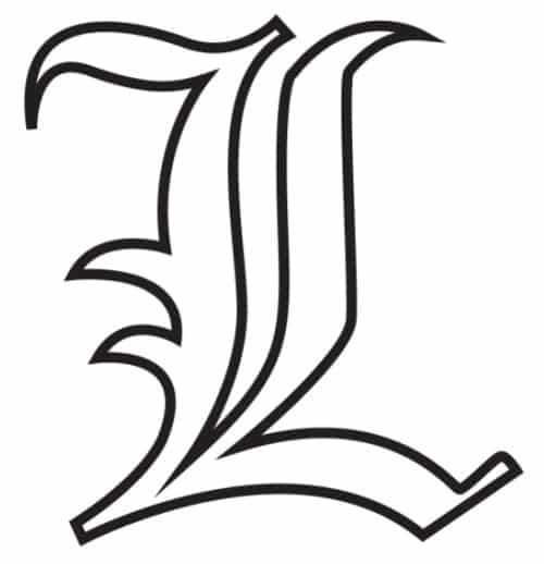 Free Printable Gothic Calligraphy Letters: Gothic Calligraphy Letter L
