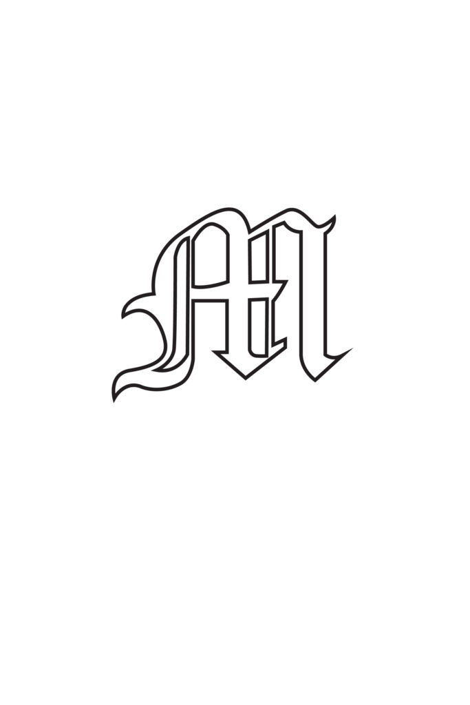 Free Printable Gothic Calligraphy Letters Gothic Calligraphy Letter M