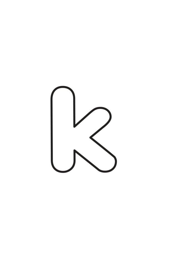 Free Printable Lowercase Bubble Letters Lowercase K Bubble Letter