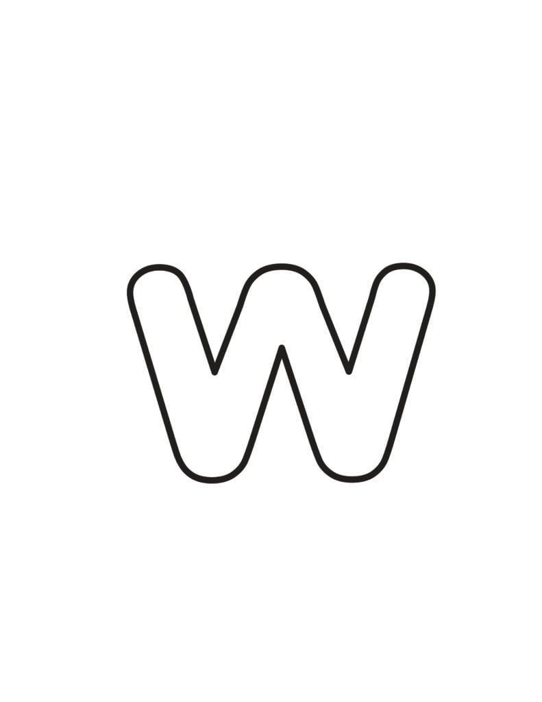 Free Printable Lowercase Bubble Letters Lowercase W Bubble Letter