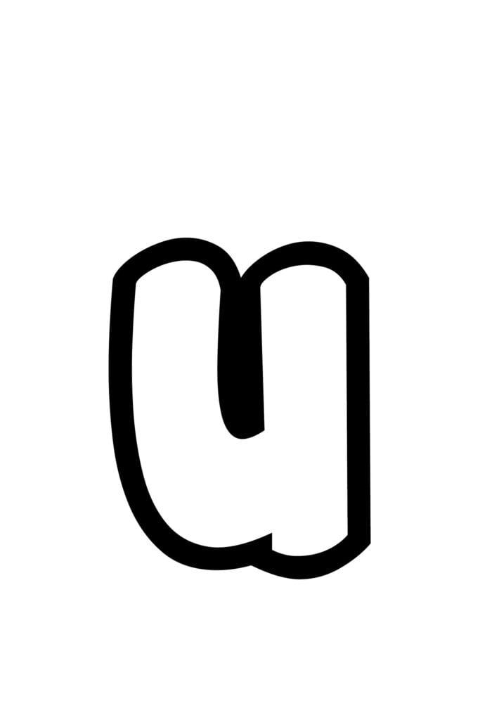 Free Printable Lowercase R Bubble Letter Stencil U