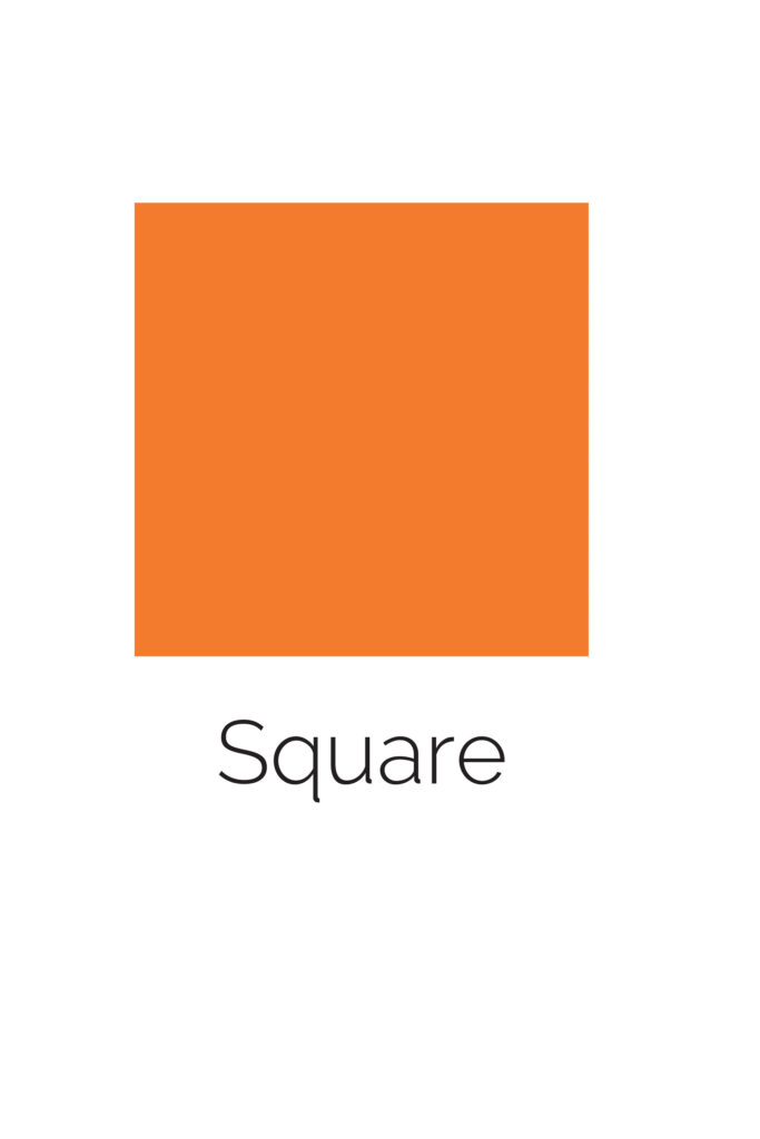 Free Printable Square Shape with Color