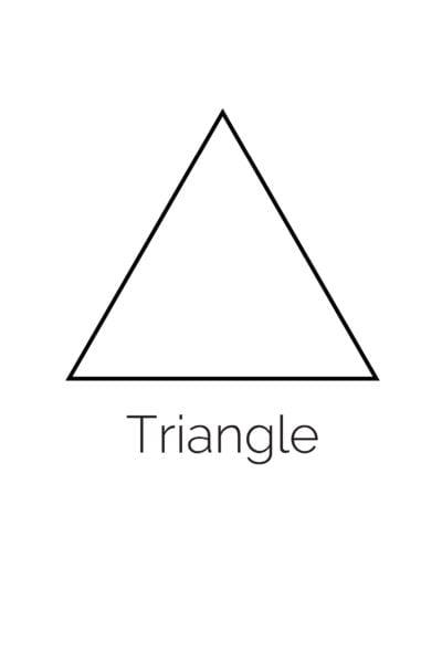 Free Printable Triangle Shape