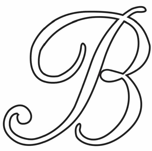Free Printable Uppercase Calligraphy Letters Calligraphy Letter B