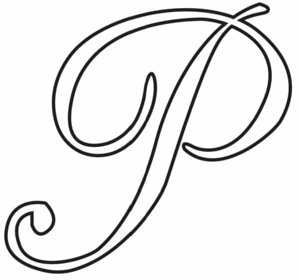 Free Printable Uppercase Calligraphy Letters Calligraphy Letter P