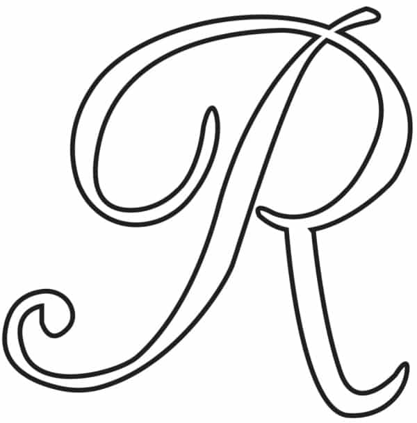 Free Printable Uppercase Calligraphy Letters Calligraphy Letter R