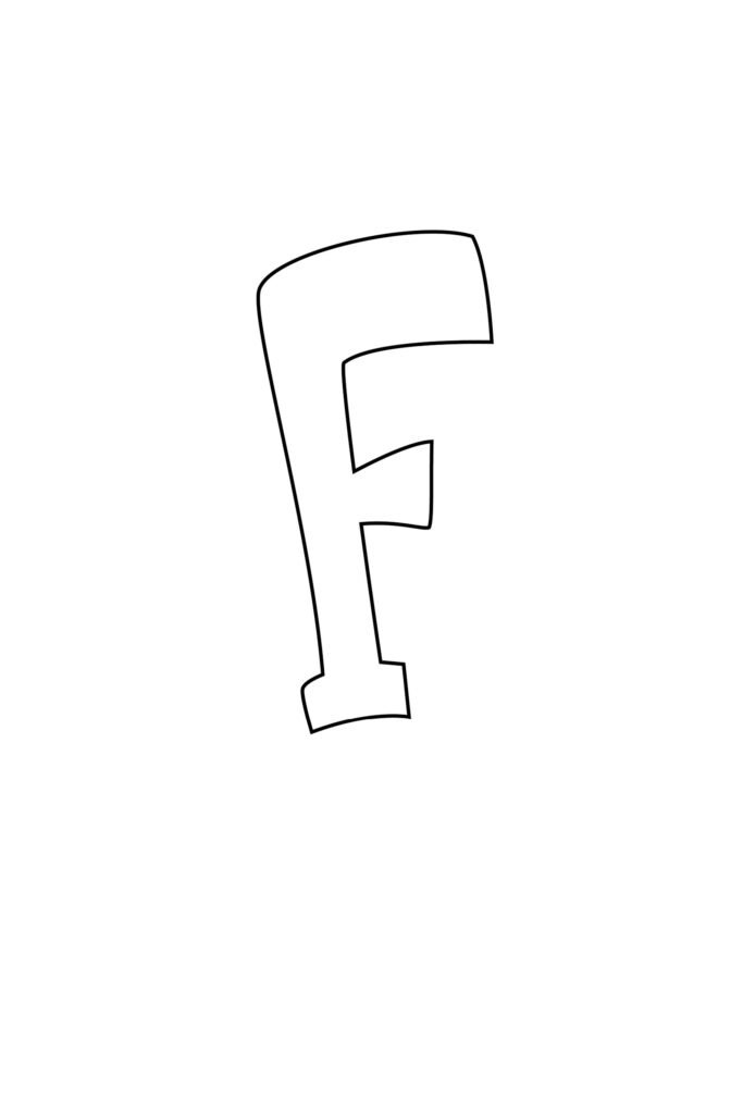 Graffiti Bubble Letter F Printable