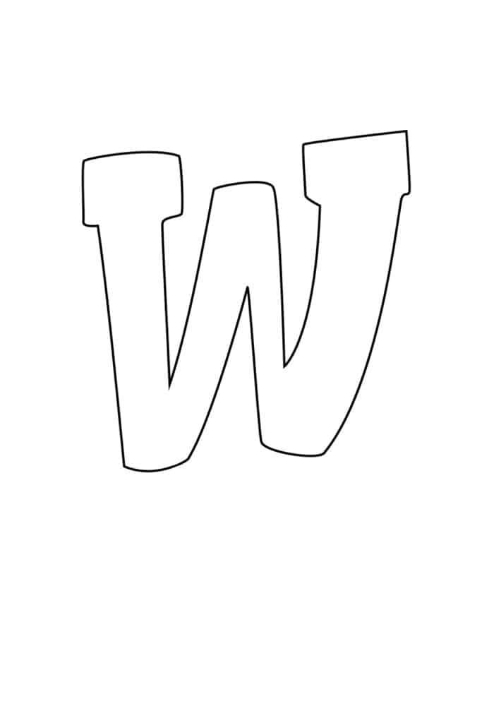 Graffiti Bubble Letter R Printable W