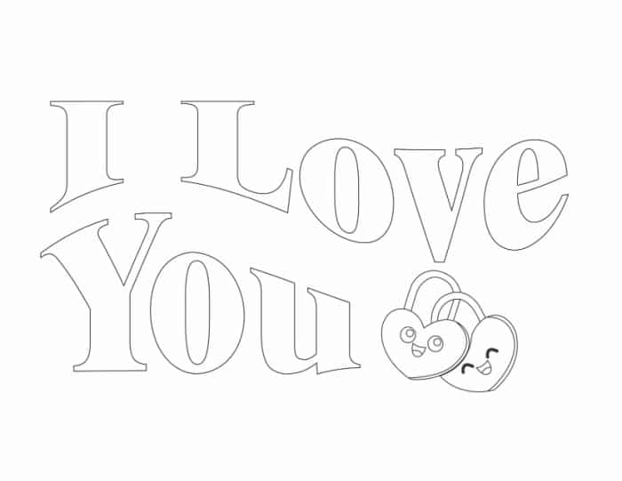These I Love You bubble letters are sure to make your heart melt once your kid gets done decorating them.