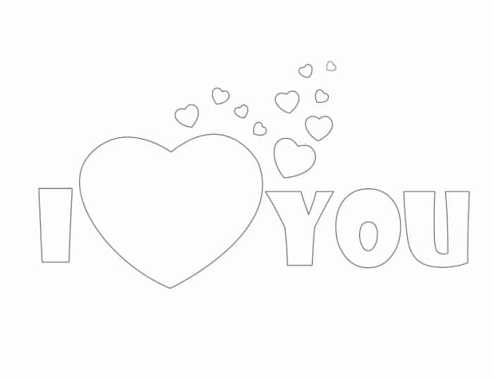 This I Love You Mom coloring page (or I Love You Dad coloring page) is a gift your kid can make all on his or her own.